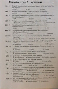 """Jeu questions """"Connaissez-vous Québec"""" en français et anglais Saguenay Saguenay-Lac-Saint-Jean image 6"""