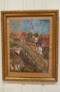 Bosnian painting by famous artist Mevludin Ekmecic, from 1949