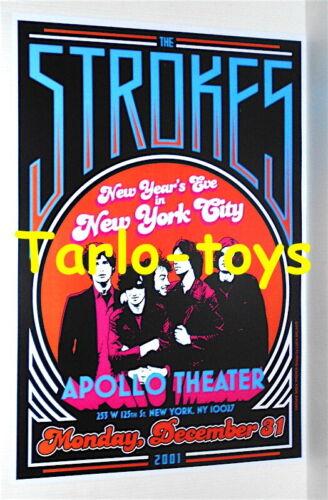 the STROKES - New York, Usa - 31 december 2001 - concert poster