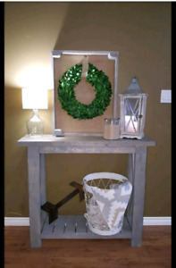 Rustic entry / sofa table