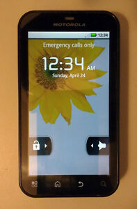 "Motorola Defy MB525 3.7"" Android Cellphone smartphone Telus"