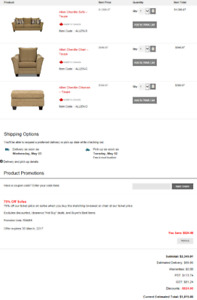 NEW Allen Sofa, Chair and Ottoman from The Brick (in Taupe)