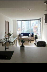 1 bedroom +1 private bathroom for rent in modern Yaletown condo!