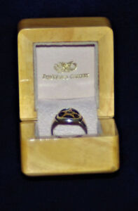 FireWorks Gallery Silver and 14K Gold Pentagram Ring 1 of 1