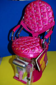 """new PINK SALON CHAIR FOR DOLL 18"""""""