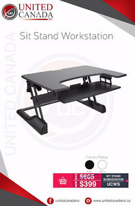 Sit-Stand Workstation / Standing Desk - Free shipping!!