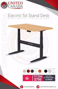Electric Sit-Stand Desk - Adjustable Frame + Desk Top! Free S&H!