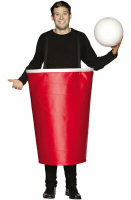 Beer Pong Cup Costume (Brand New Red Beer Pong Cup Adult Halloween)