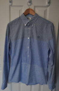 BEN SHERMAN Plectrum Tri-Gingham Button Down Shirt