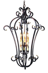 New Light Woodbridge  25007-AUB 6 Light Montgomery Foyer $628.00