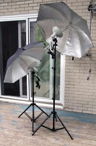 Parapluies éclairage studio photo (PRIX NÉGOCIABLE)