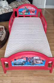 Lighting mcqueen toddler bed