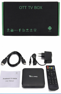 2017 TX3 PRO ANDROID BOX +  1600 LIVE CHANNELS, MOVIES