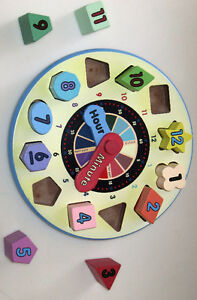 Melissa & Doug Wooden Sorting Clock