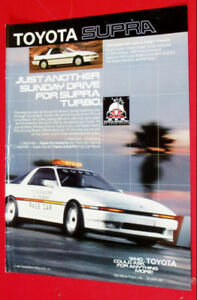 COOL 1987 TOYOTA SUPRA TURBO SPORTS CAR VINTAGE AD - RETRO 80S