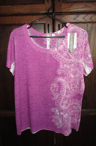 Ladies pattern t-shirt from Denver Hayes size XL *NEW with tags