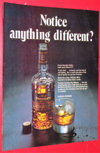 1973 PREMIUM CANADIAN RYE WHISKEY VINTAGE AD - ANONCE RETRO 70S