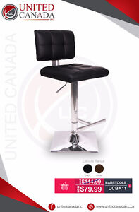 Modern & Elegant Synthetic Leather Bar Stools - FREE Delivery!!