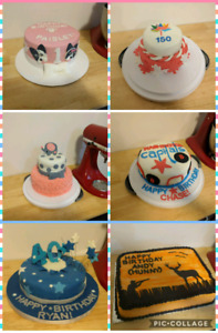 Custom cakes and baked goods