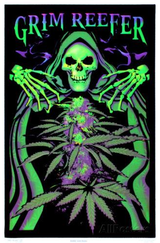 Grim Reefer Marijuana Pot Blacklight Poster Print Blacklight Poster, 24x36