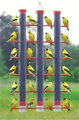 SONGBIRD ESSENTIALS FINCHES FAVORITE 3-TUBE NYJER THISTLE FEEDER, SE324