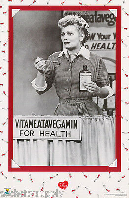 Poster: Tv: I Love Lucy - Lucille Ball - Vitameatavegamin -free Ship 248 Rp80 X