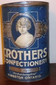 Vintage Advertising Tin Caruthers Confectionery Kingston Ontario Peterborough Peterborough Area image 2