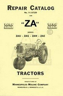 Minneapolis Moline Za Zau Zas Zan Zae Repair Manual Cat