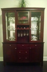 Bow-front Dining China Cabinet