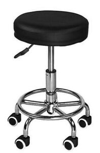 Deluxe Round Height Hydraulic Adjustable Rolling Stool