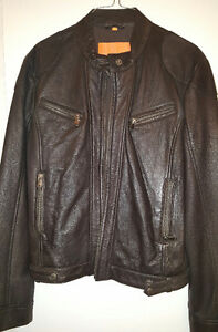 Women's Italian brown leather jacket
