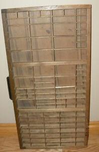 Antique Wood OAK Type Set Printer's DRAWER/TRAY/SHADOW BOX