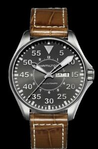 HAMILTON Mens Khaki Pilot Auto Watch
