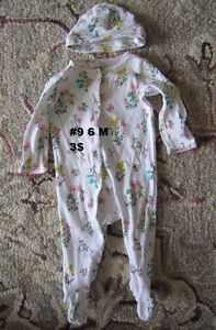 Baby girl clothes 3 to 6 months. Sleepers. London Ontario image 3