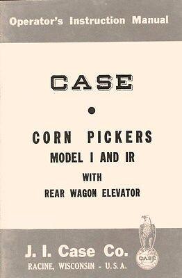 Case I Ir Corn Picker Wagon Elevator Operators Manual