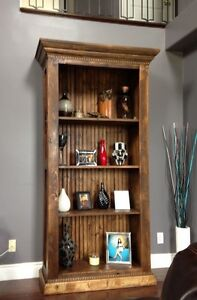 Antiqued rustic custom tables barn doors live edge slabs bench