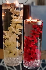 Customizable Flower Wedding Centerpiece with Floating Candle