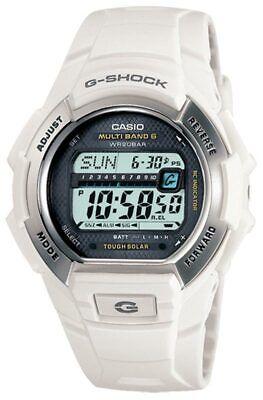 Casio Men's Watch G-Shock White Resin Digital Solar Power Atomic Dive GWM850-7C