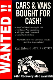 BARN FINDS CLASSIC VANS AND CARS WANTED URGENTLY