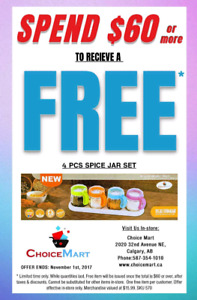 CHOICE MART - FREE ITEM OF THE WEEK