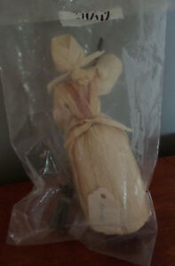 Handmade Corn Husk Doll Made in Czechoslovakia