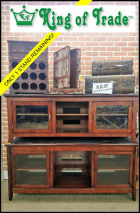 """NEW! Dark Wood TV Stand / Up to 65"""" - King of Trade"""