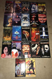40 Rare Horror Cult VHS lot of 9 Jack-O Dead-Alive The Fog +++