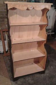 5ft high Hand Made Real Wood Bookcase / Plate Display Stand