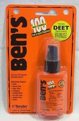 Ben's Wilderness 1.25 Oz Pump Spray 100% Deet Tick Mosquito Insect Repellent