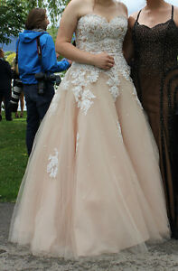 Champagne Wedding Dress; Ball Gown