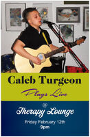 Caleb Turgeon plays live at Therapy Lounge
