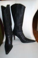 CARLO ROSSETTI COWBOY LEATHER BOOTS - GREAT CONDITION - SIZE 7