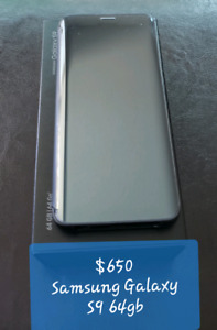 Samsung Galaxy S9 64gb Unlocked w/ Clear View Case