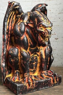 Molten Lava Fire Demon Halloween Haunted Gargoyle Prop Decoration Castle Decor (Halloween Haunted Castle Props)